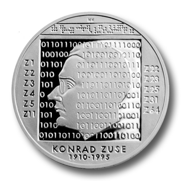 10 Euro BRD - 100. Geburtstag Konrad Zuse Silbermünze (2010)