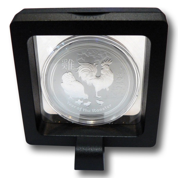 Münzetui 3D Schweberahmen 70 x 70 x 20 mm Objektrahmen schwarz