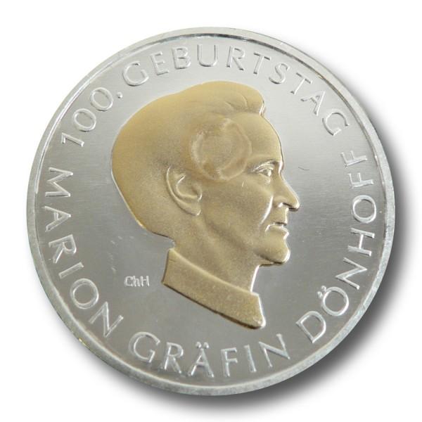 10 Euro BRD - 100. Geburtstag M. Dönhoff Silbermünze (2009) - teilvergoldet