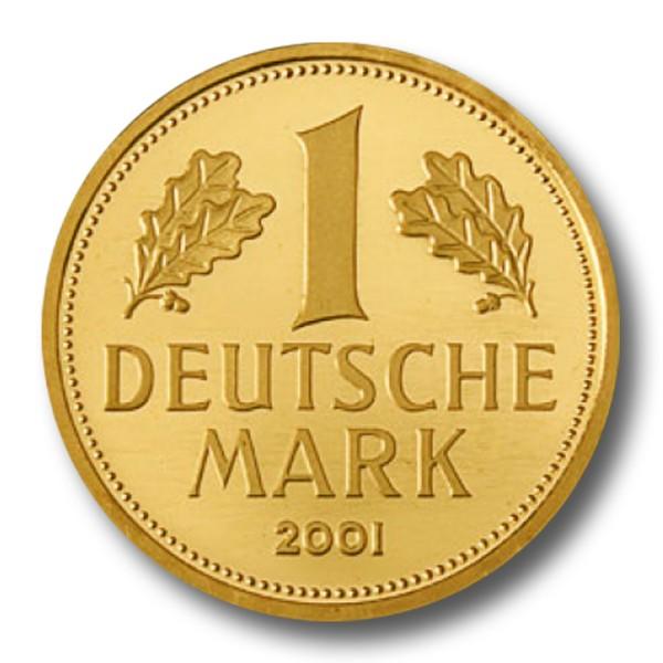 1 DM BRD - Goldmark Goldmünze (2001)