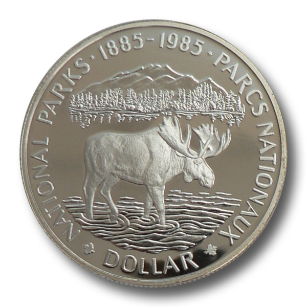 1 Dollar Kanada - 100 Jahre Rocky Mountains National Park (1985) PP
