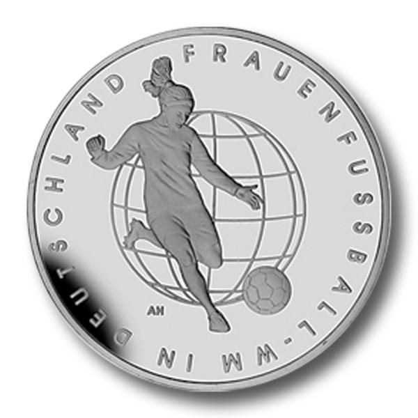 10 Euro BRD - Frauenfußball-WM Silbermünze (2011) - PP