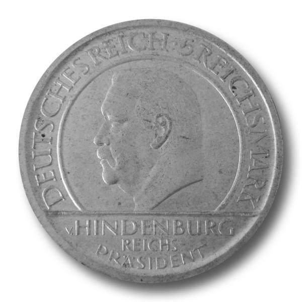 5 Reichsmark - Treu der Verfassung - Schwurhand f. vz (1929) E