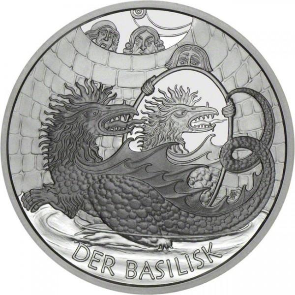 10 Euro Der Basilisk Österreich Silbermünze (2009) PP - OVP