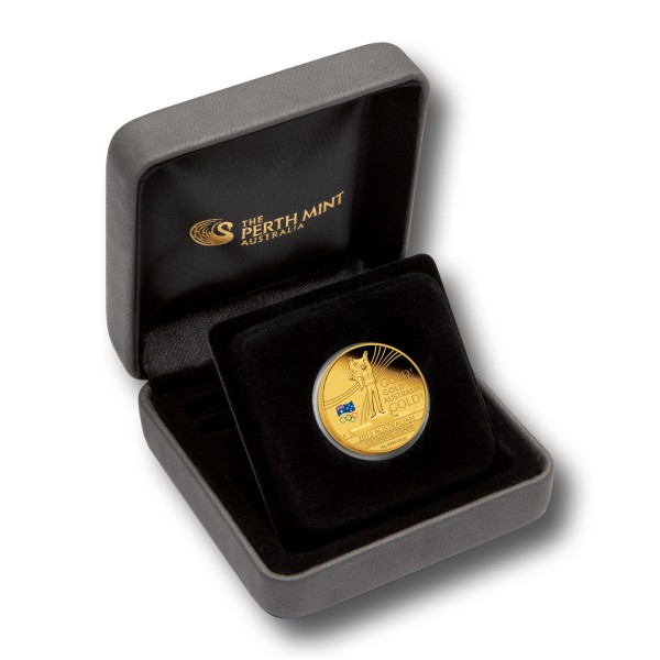 60 Dollar Australien - Austr. Olympic Team 10 g Goldmünze (2012) PP