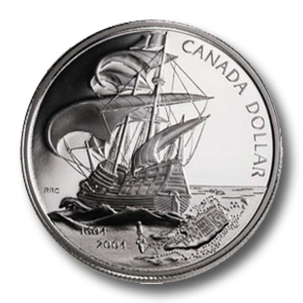 1 Dollar Kanada - Französische Besiedlung Silbermünze (2004) PP