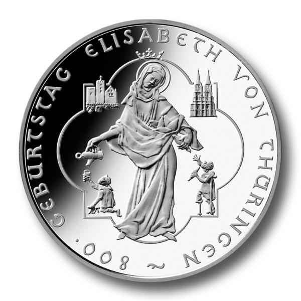 10 Euro BRD - Elisabeth von Thüringen Silbermünze (2007)