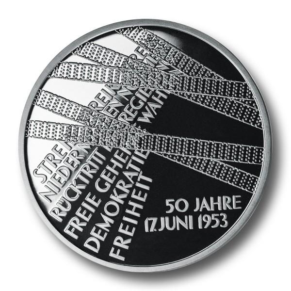 10 Euro BRD - 50 Jahre Volksaufstand 1953 Silbermünze (2003)