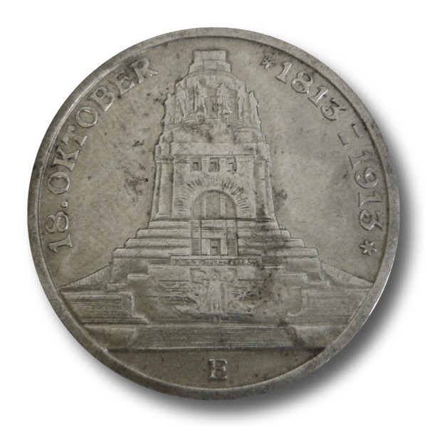 3 Mark - Sachsen Völkerschlacht Leipzig (1913)