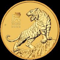 15 Dollar Australien - Lunar III  Tiger 1/10 oz Goldmünze (2022)