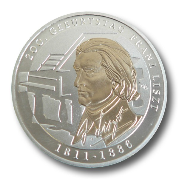 10 Euro Münzen 2011 Franz Liszt Ausreise Info