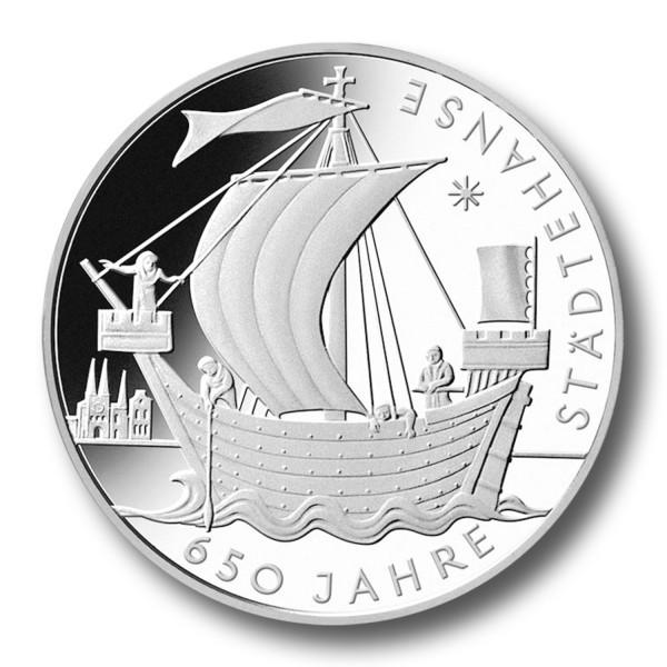 10 Euro BRD - 650 Jahre Städtehanse Silbermünze (2006)