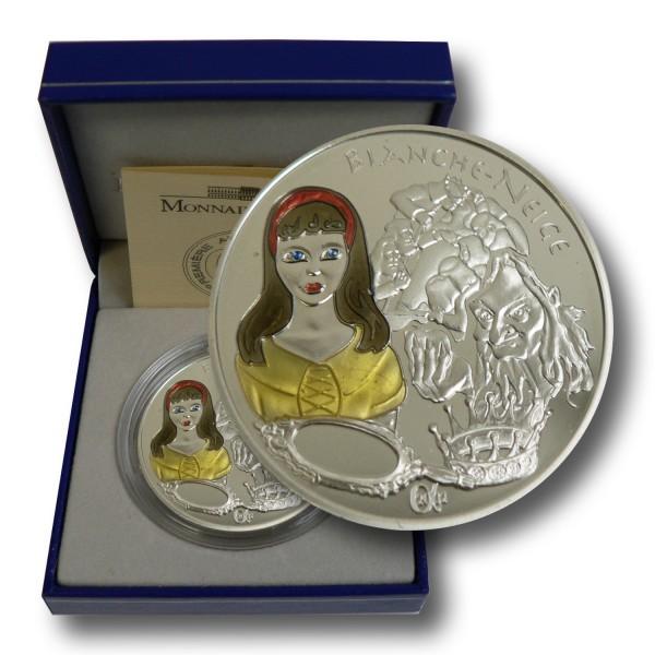 1,5 Euro Frankreich - Schneewittchen Silbermünze (2002) PP - coloriert - OVP