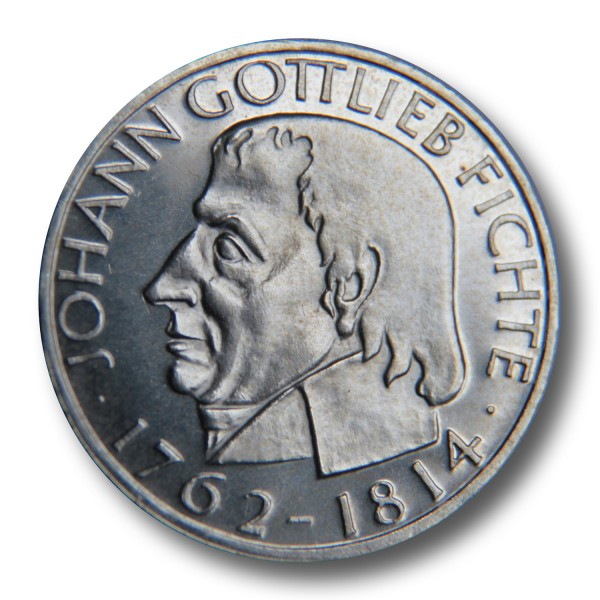 5 DM - J.G. Fichte Silbermünze (1964) - Polierte Platte