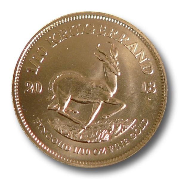 Krügerrand Südafrika 1/10 oz Goldmünze (div.)