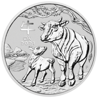 1 Dollar Australien - Lunar III - Ochse 1 oz Silbermünze (2021)