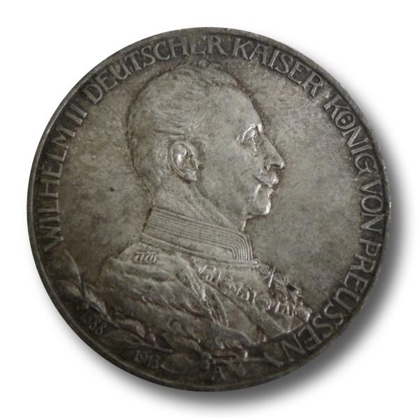 3 Mark - Preußen Wilhelm II. in Uniform (1913) - J. 112