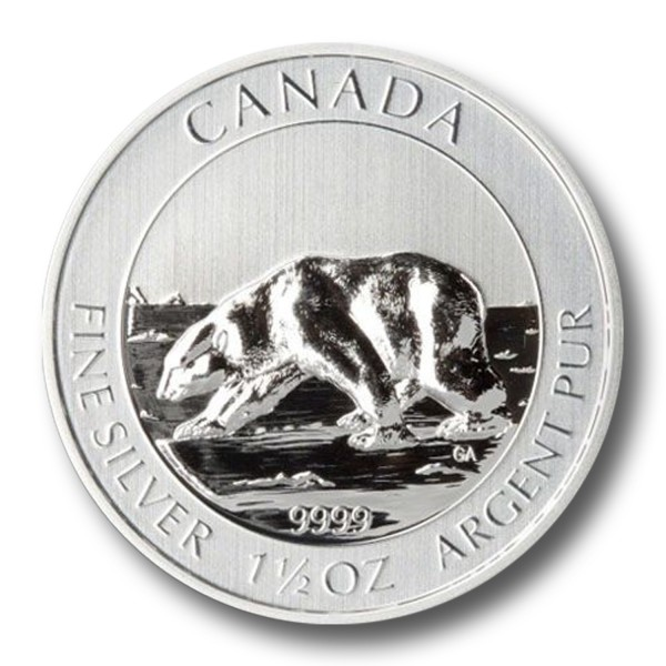 1,5 oz Polar-Bär-Serie Erstmotiv Silber (2013) [diff.]