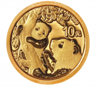 10 Yuan China - Panda 1 g Goldmünze (2021)
