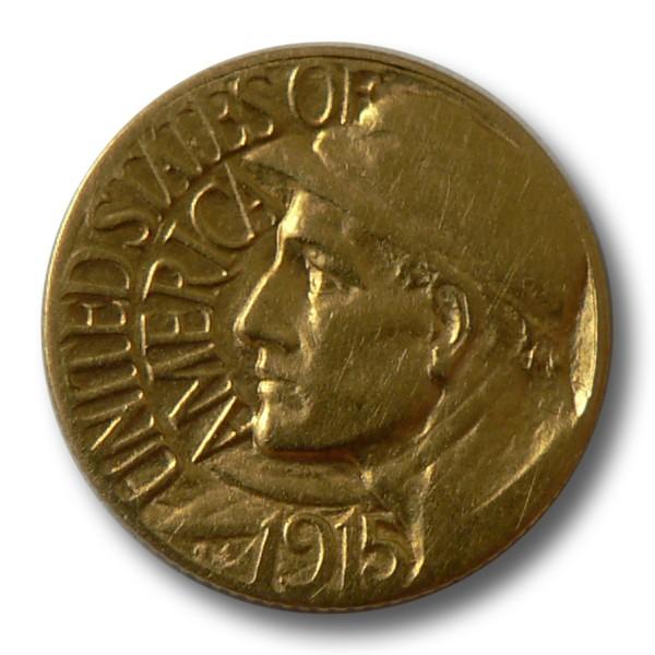 1 Dollar Usa Panama Kanal Arbeiter Goldmünze 1915 Usa Klassik