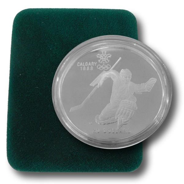 20 Dollar Kanada - Eishockeyspieler - Silber Münze (1986) PP