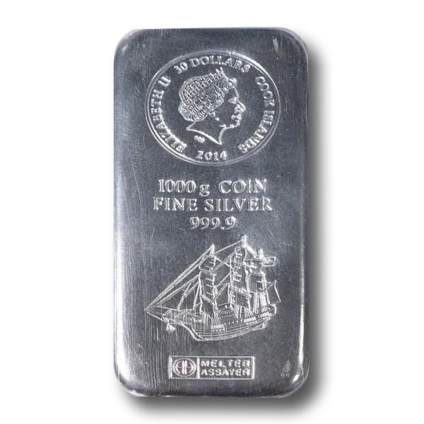 1 kg Münzbarren Cook Islands Silber