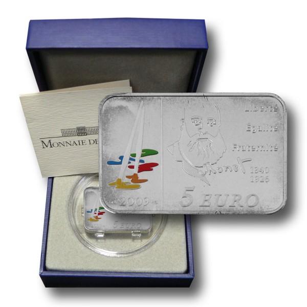 5 Euro Frankreich - Claude Monet Silbermünze (2009) PP - OVP