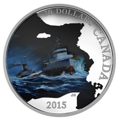 Kanada - 20 CAD Lost Ships SS Edmund Fitzgerald - 1 oz Silber (2015) PP
