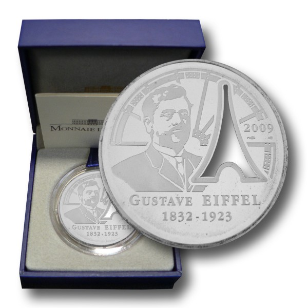 10 Euro Frankreich - Gustave Eiffel Silbermünze (2009) PP - OVP