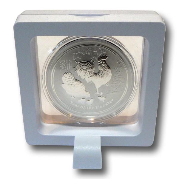 Münzetui 3D Schweberahmen 70 x 70 x 20 mm Objektrahmen weiß