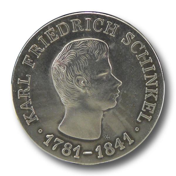 10 Mark DDR Karl Friedrich Schinkel Silber Münze (1966)
