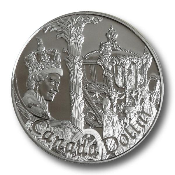 1 CAD 50 Jahre Kronjubiläum Queen Silber Münze PP (2002)