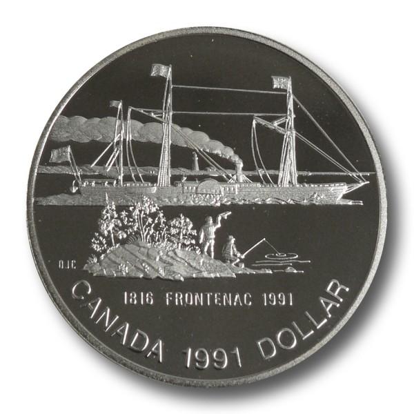 1 Dollar Kanada - S.S. Frontenac Silbermünze (1991) PP