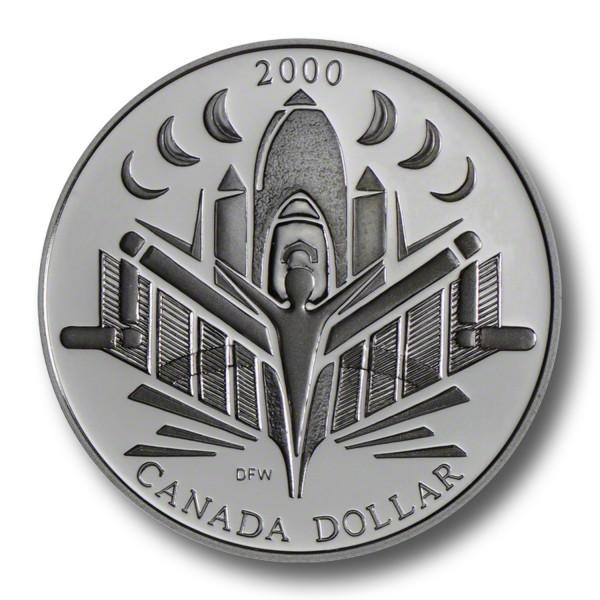 1 Dollar Kanada - Zeitalter der Entdeckungen Silbermünze (2000) PP - OVP