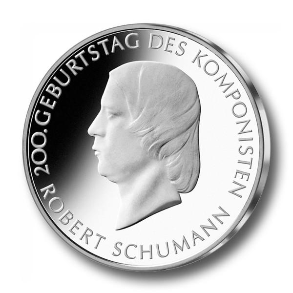 10 Euro BRD - 200. Geburtstag Robert Schumann Silbermünze (2010)