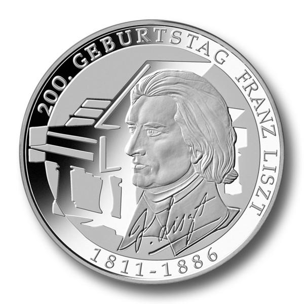 10 Euro BRD - 200. Geburtstag Franz Liszt Silbermünze (2011)