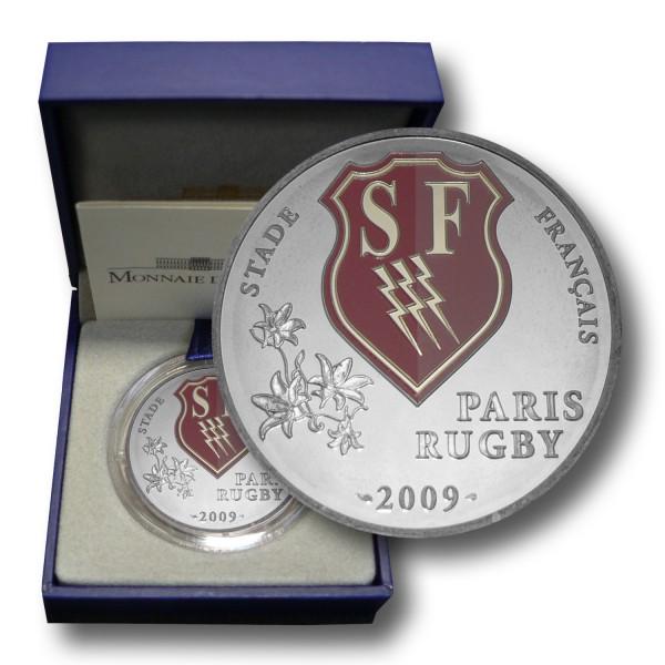 10 Euro Frankreich - Rugby Stade Francais Paris Silbermünze (2009) PP - OVP
